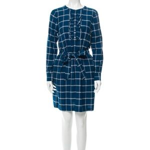 Draper James blue plaid dress